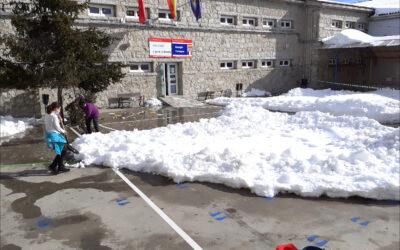 Espectacular nevada en Colmenar Viejo